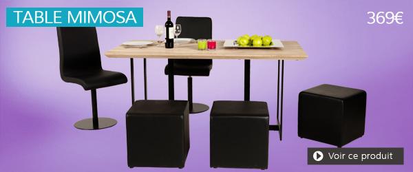 Table en chêne MIMOSA