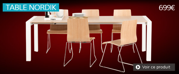 Table extensible bois naturel NORDIK