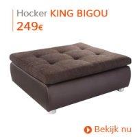 Herfst decoratie - Bruine hocker KING BIGOU