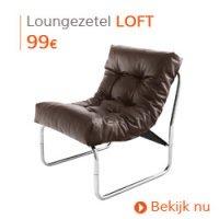 Herfst decoratie - Bruine loungezetel LOFT