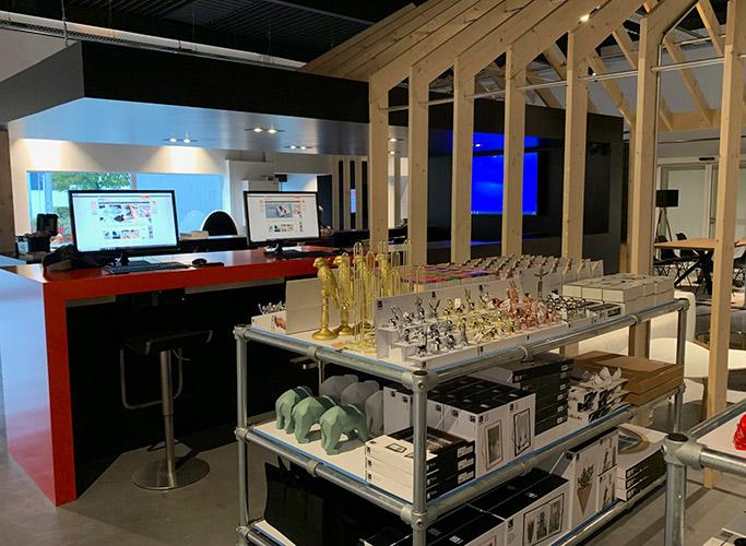 Un showroom connecté à Namur
