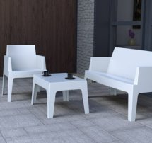 Witte tuinsalon PLEMO XL - Alterego Design