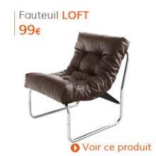 Déco d'automne - Fauteuil lounge LOFT brun