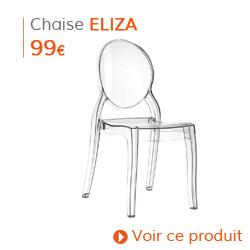 Decoration contemporaine - Chaise moderne ELIZA transparente