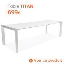 Decoration contemporaine - Table de salle à manger TITAN