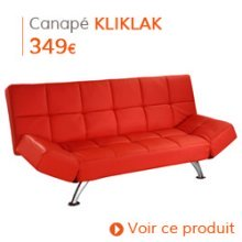 Decoration Vintage - Canapé-lit KLIKLAK rouge