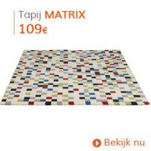 Vintage - Kortpolig design tapijt voor de woonkamer MATRIX