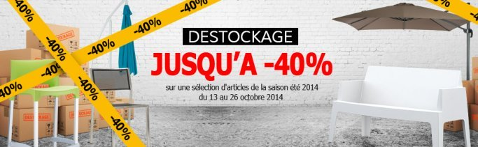 Destockage mobilier de jardin Alterego Design