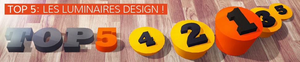Les luminaires design - TOP 5
