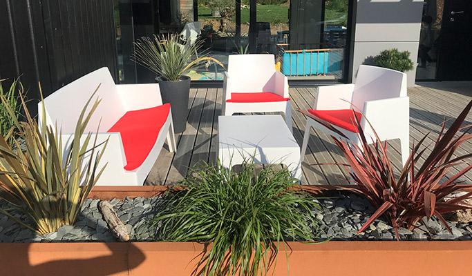 Les plantes sur la terrasses - 01