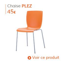 Déco d'automne - Chaise de cuisine PLEZ orange