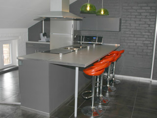 Keukenbar type aanrecht - Alterego Design