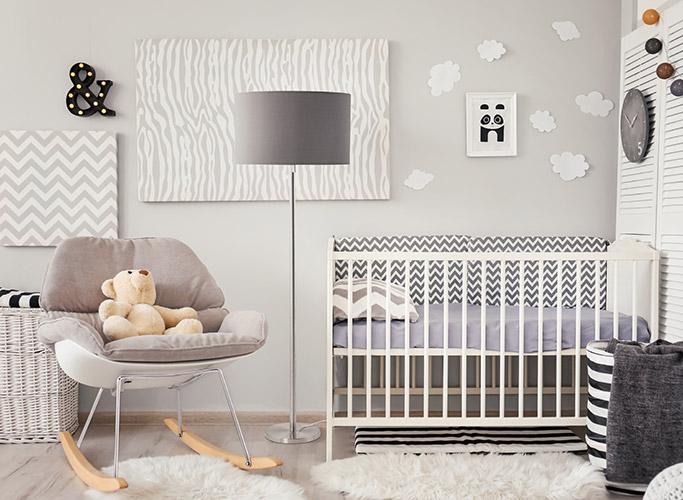 Les couleurs dans la chambre de bébé