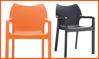 Chaise de jardin VIVA orange - Alterego Design