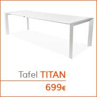 Eetkamer meubelen - Tafel TITAN