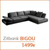 De woonkamer - Hoekbank BIGOU