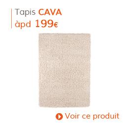 Decoration Classique - Tapis à poils longs CAVA crème