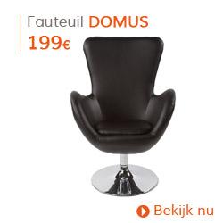 Klassiek - Draaibare design zetel DOMUS uit zwart imitatieleder