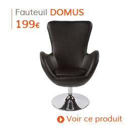 Decoration Classique - Fauteuil à oreille DOMUS noir