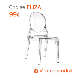 Decoration contemporaine - Chaise moderne ELIZA transparente