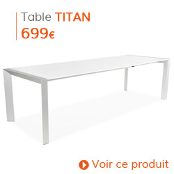 Decoration contemporaine - Table de salle à manger TITAN