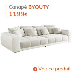 Decoration Scandinave - Grand canapé blanc BYOUTY