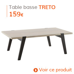 Decoration Scandinave - Table basse TRETO