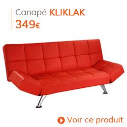 Decoration Vintage - Canapé-lit KLIKLAK rouge