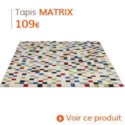 Decoration Vintage - Tapis coloré à poils courts MATRIX