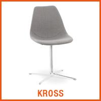 Chaise KROSS grise - Nouveaute Alterego