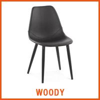 Chaise WOODY noire - Nouveaute Alterego