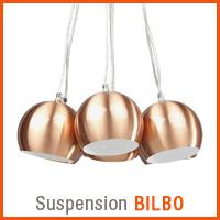 Suspension BILBO couleur cuivre - Nouveaute Alterego