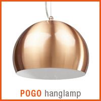 Koperkleurige POGO hanglamp - Alterego nieuwigheden