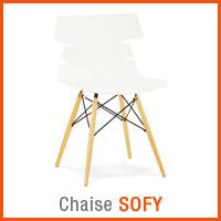 Meubles scandinaves Alterego - Chaise SOFY