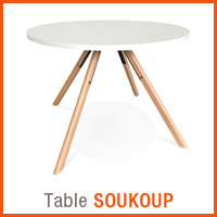 Meubles scandinaves Alterego - Table SOUKOUP