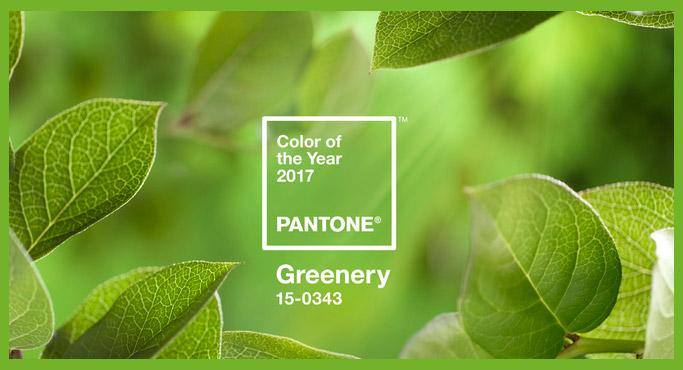 De kleur van 2017 voor uw interieur