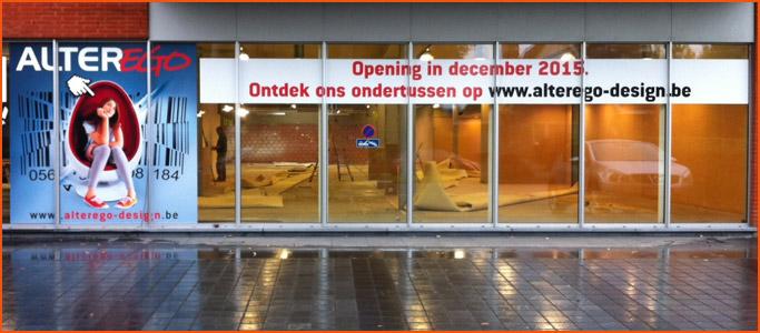 Devanture du nouveau showroom Alterego Design
