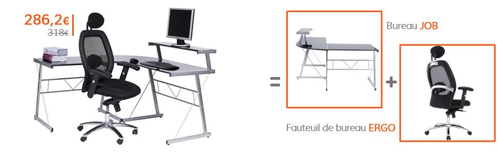 Rentrée des classes - Bureau JOB et fauteuil ERGO