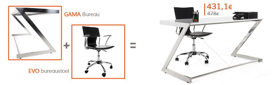 Terug naar school - GAMA bureau en EVO bureaustoel