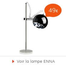 Rentree 2015 Alterego - Lampe de bureau ENNA noire