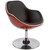 Rood-zwarte fauteuil KOK - Alterego Design