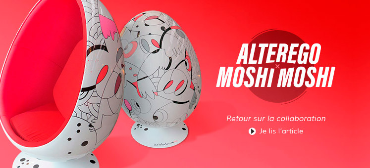 Flashback Moshimoshi - Une collaboration Alterego Design