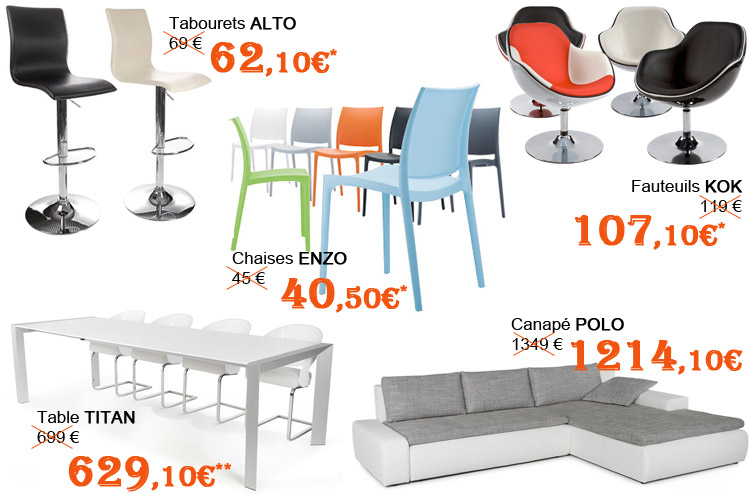 Selection de produits Alterego Design - Soldes hiver 2015