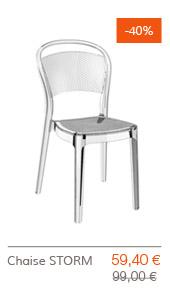 SUPER SOLDES Altergo Design - Chaise STORM