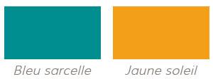 Bleu sarcelle et jaune soleil - Couleurs tendance pour votre déco 2014