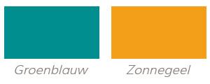Groenblauw et zonnegeel - Kleuren tendensen voor uw 2014 deko.