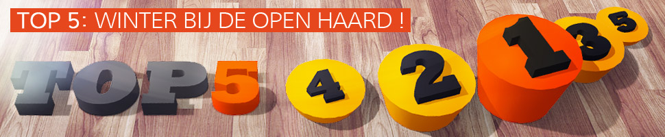 TOP 5 : WINTER BIJ DE OPEN HAARD !