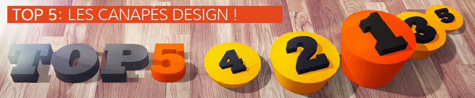 Les canapés design - TOP 5