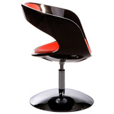Fauteuil design SPACE noir/rouge - Alterego Design