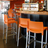 Oranje MATY barkruk - professionneel